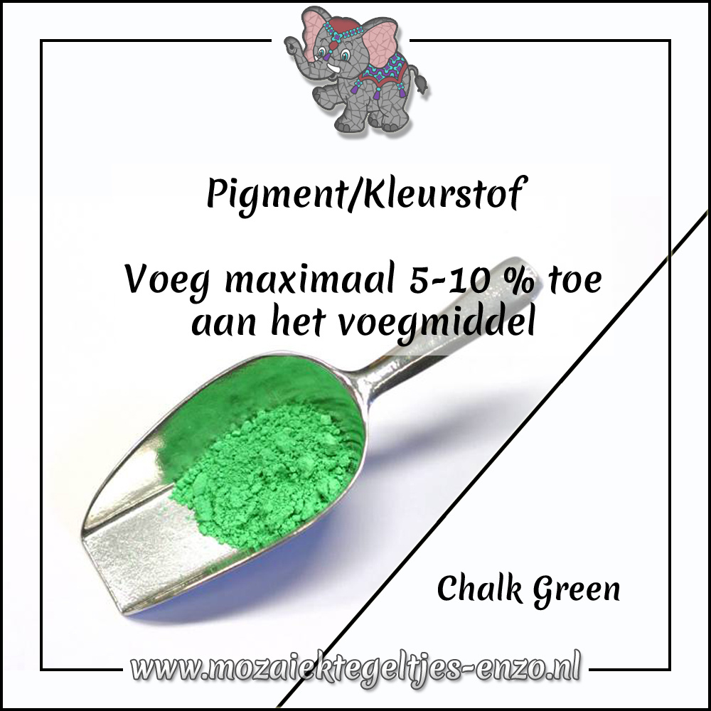 Pigment | Kleurstof voor voegmiddel | 20 gram |Chalk Green