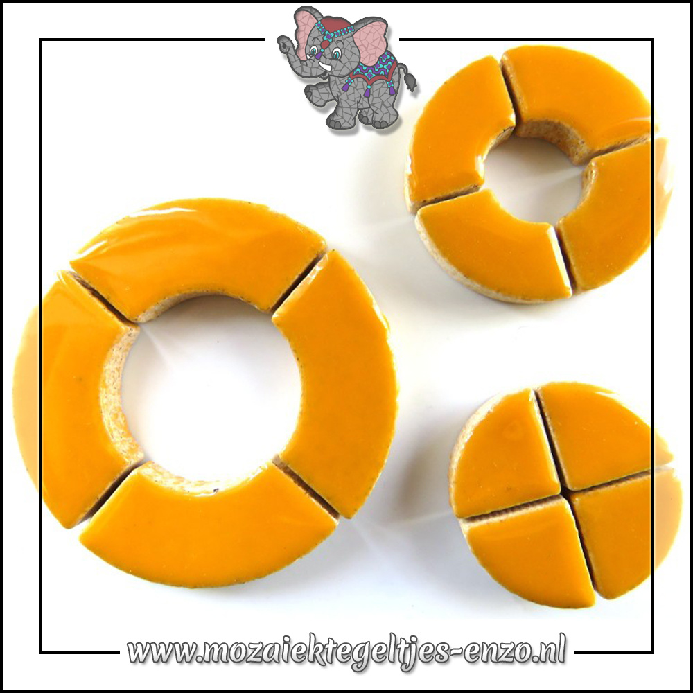 Keramiek Bullseyes Normaal   Mix van 3 vormen   Enkele Kleuren   50 gram  Curry