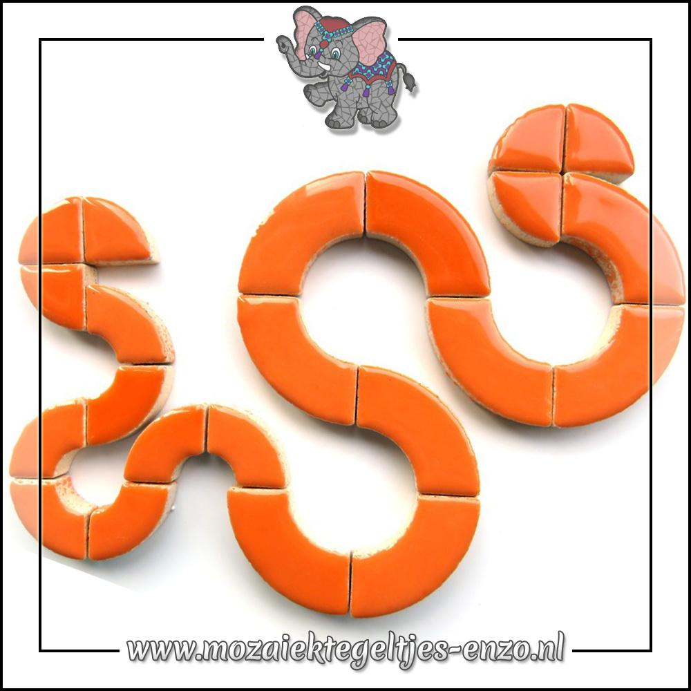 Keramiek Bullseyes Normaal   Mix van 3 vormen   Enkele Kleuren   50 gram  Popsicle Orange