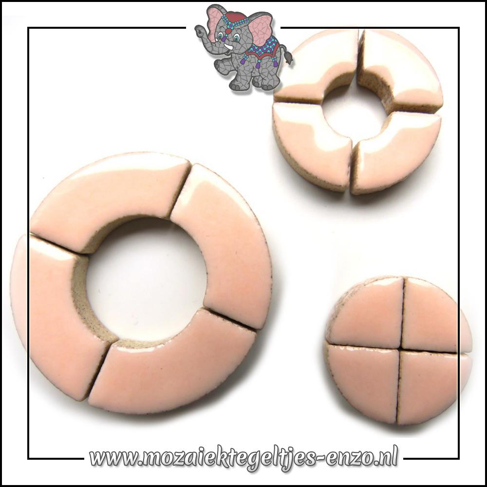 Keramiek Bullseyes Normaal | Mix van 3 vormen | Enkele Kleuren | 50 gram |Sweet Pink