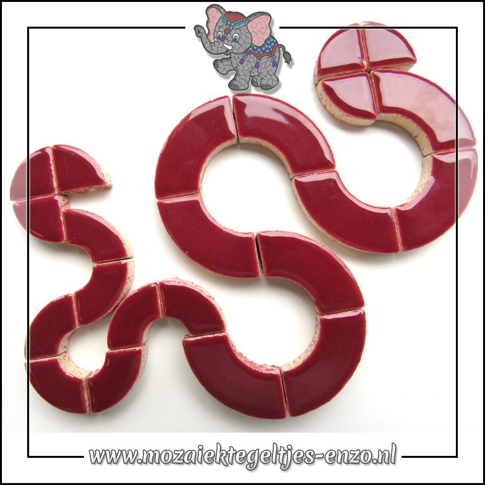 Keramiek Bullseyes Normaal   Mix van 3 vormen   Enkele Kleuren   50 gram  Merlot