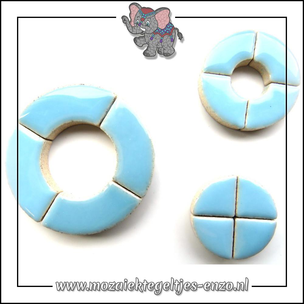 Keramiek Bullseyes Normaal | Mix van 3 vormen | Enkele Kleuren | 50 gram |Azure