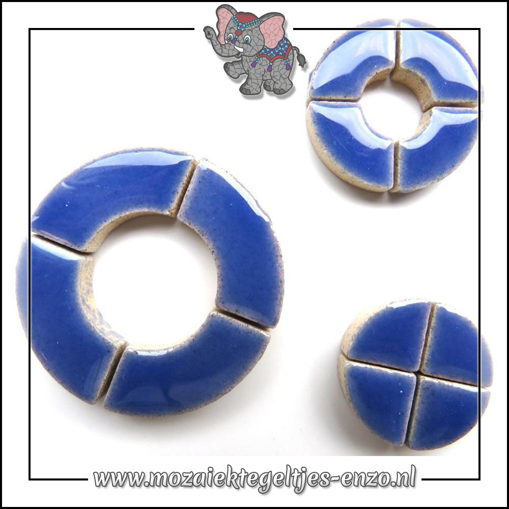 Keramiek Bullseyes Normaal | Mix van 3 vormen | Enkele Kleuren | 50 gram |Delphinium