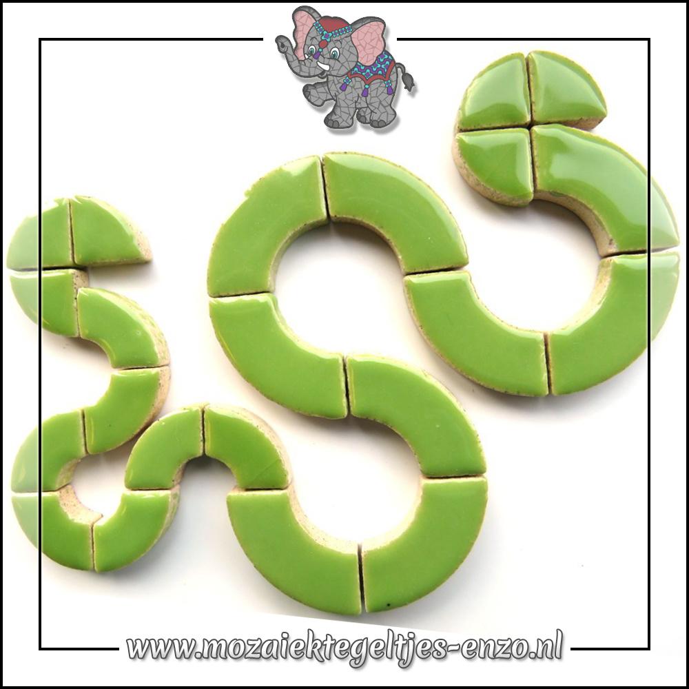 Keramiek Bullseyes Normaal | Mix van 3 vormen | Enkele Kleuren | 50 gram |Kiwi