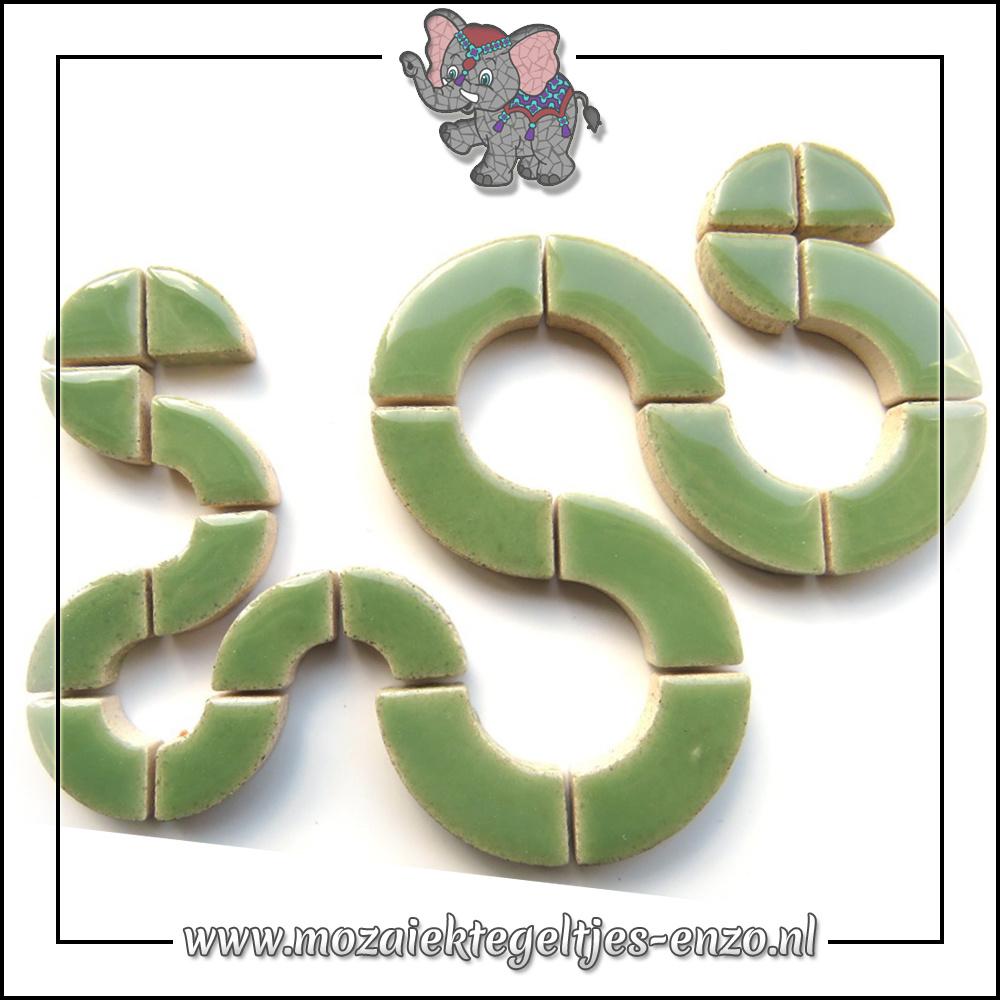 Keramiek Bullseyes Normaal   Mix van 3 vormen   Enkele Kleuren   50 gram  Jade