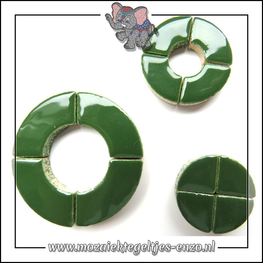 Keramiek Bullseyes Normaal   Mix van 3 vormen   Enkele Kleuren   50 gram  Pesto