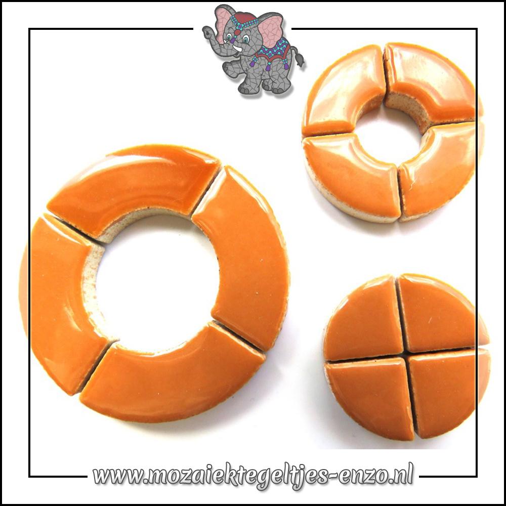 Keramiek Bullseyes Normaal   Mix van 3 vormen   Enkele Kleuren   50 gram  Warm Sand