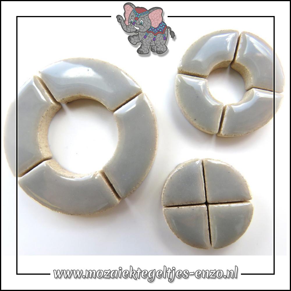 Keramiek Bullseyes Normaal   Mix van 3 vormen   Enkele Kleuren   50 gram  Dove Grey