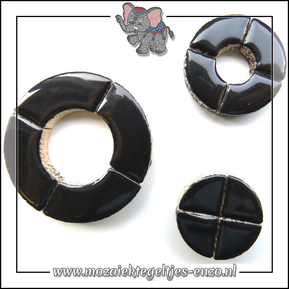 Keramiek Bullseyes Normaal   Mix van 3 vormen   Enkele Kleuren   50 gram  Black