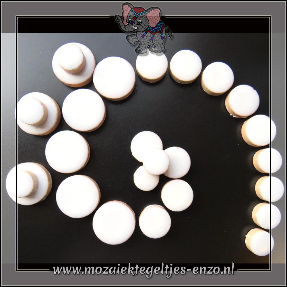 Keramiek Discs Normaal   12-15-20 mm   Enkele Kleuren   50 gram  White