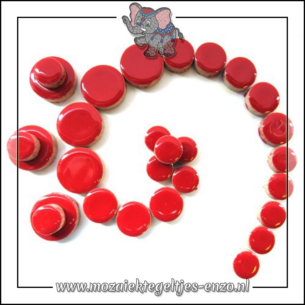 Keramiek Discs Normaal   12-15-20 mm   Enkele Kleuren   50 gram  Poppy Red