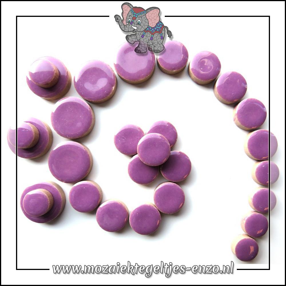 Keramiek Discs Normaal | 12-15-20 mm | Enkele Kleuren | 50 gram |Pretty Purple