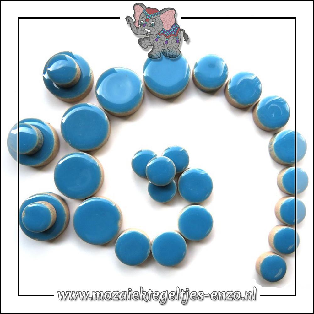 Keramiek Discs Normaal   12-15-20 mm   Enkele Kleuren   50 gram  Thalo Blue