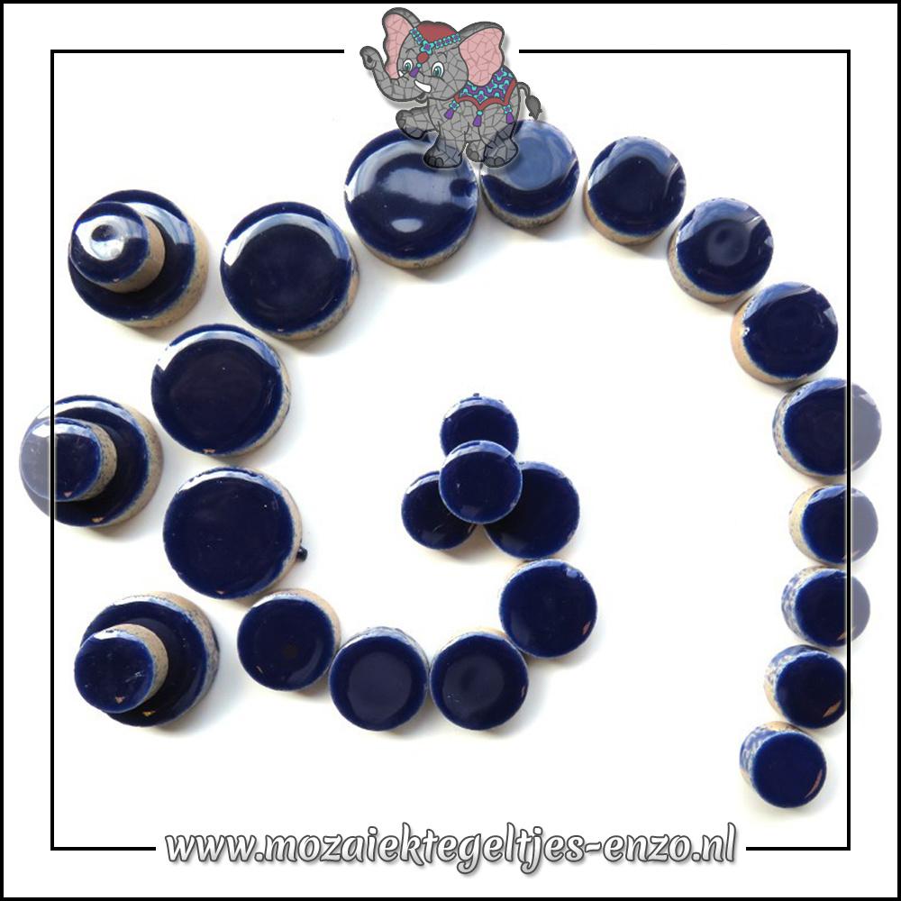 Keramiek Discs Normaal   12-15-20 mm   Enkele Kleuren   50 gram  Indigo