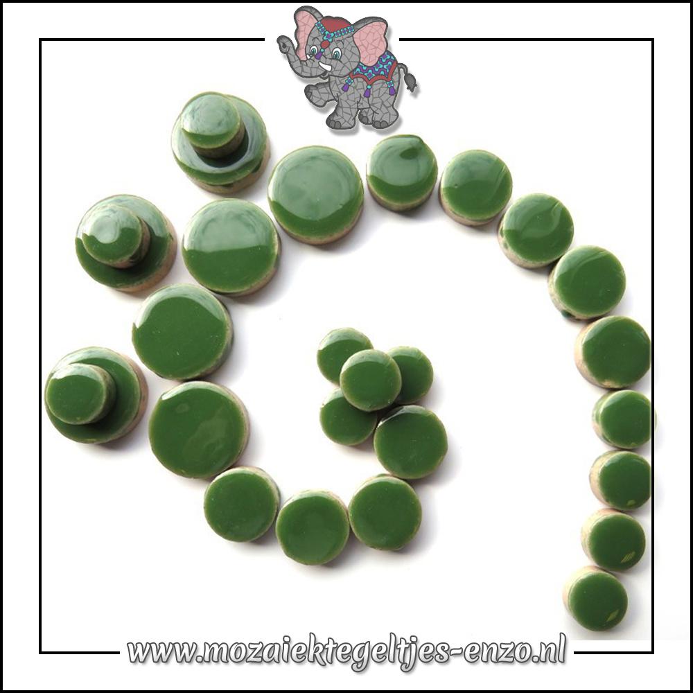 Keramiek Discs Normaal | 12-15-20 mm | Enkele Kleuren | 50 gram |Eucalyptus