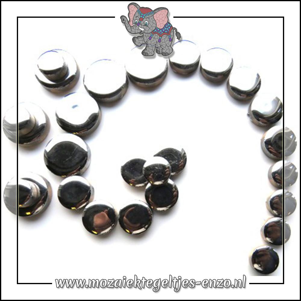 Keramiek Discs Normaal   12-15-20 mm   Enkele Kleuren   50 gram  Silver