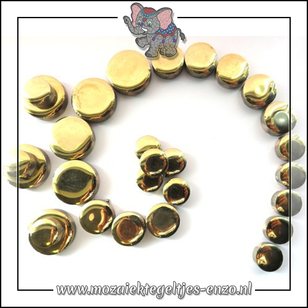 Keramiek Discs Normaal | 12-15-20 mm | Enkele Kleuren | 50 gram |Gold