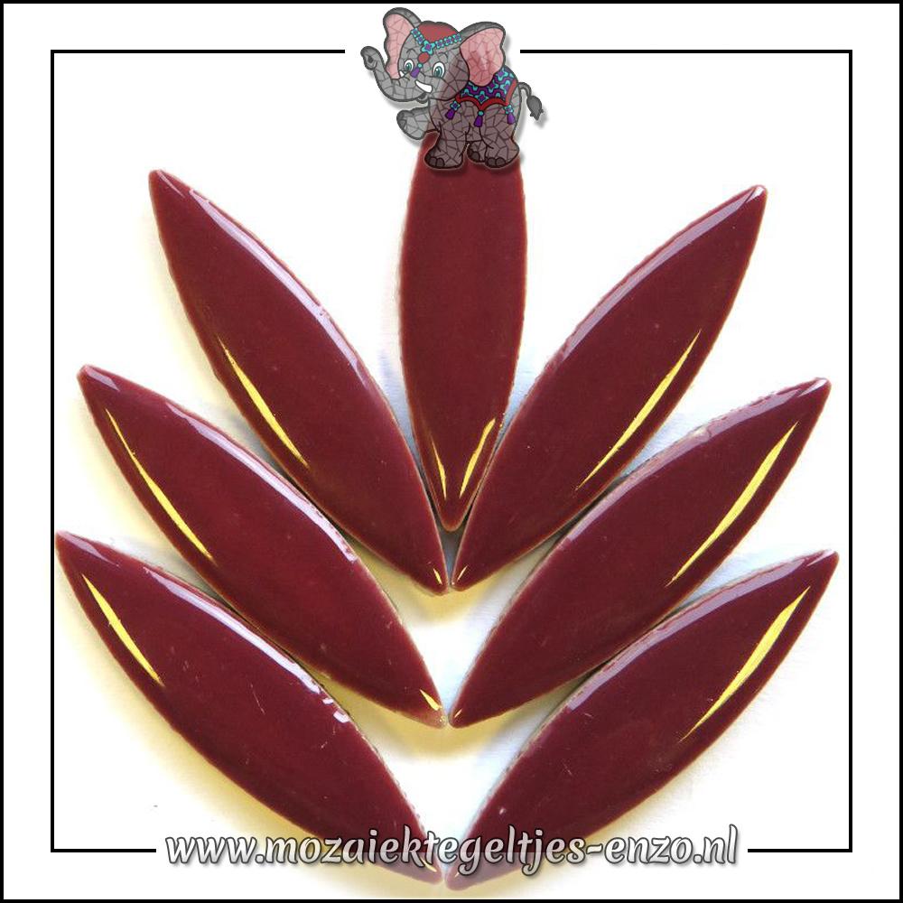 Keramiek Petals XL Normaal | 60mm | Enkele Kleuren | 1 stuks |Merlot