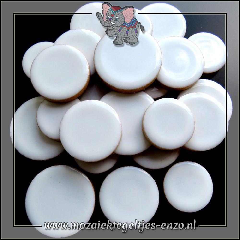 Keramiek Discs XL Normaal | 25-30-35 mm | Enkele Kleuren | 50 gram |White