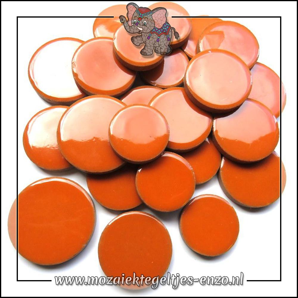 Keramiek Discs XL Normaal   25-30-35 mm   Enkele Kleuren   50 gram  Popsicle Orange