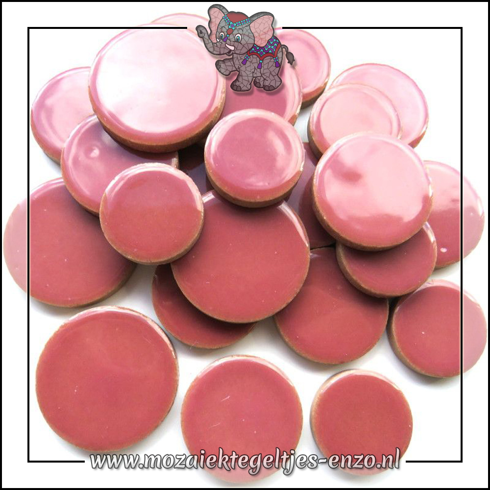 Keramiek Discs XL Normaal   25-30-35 mm   Enkele Kleuren   50 gram  Dusty Rose