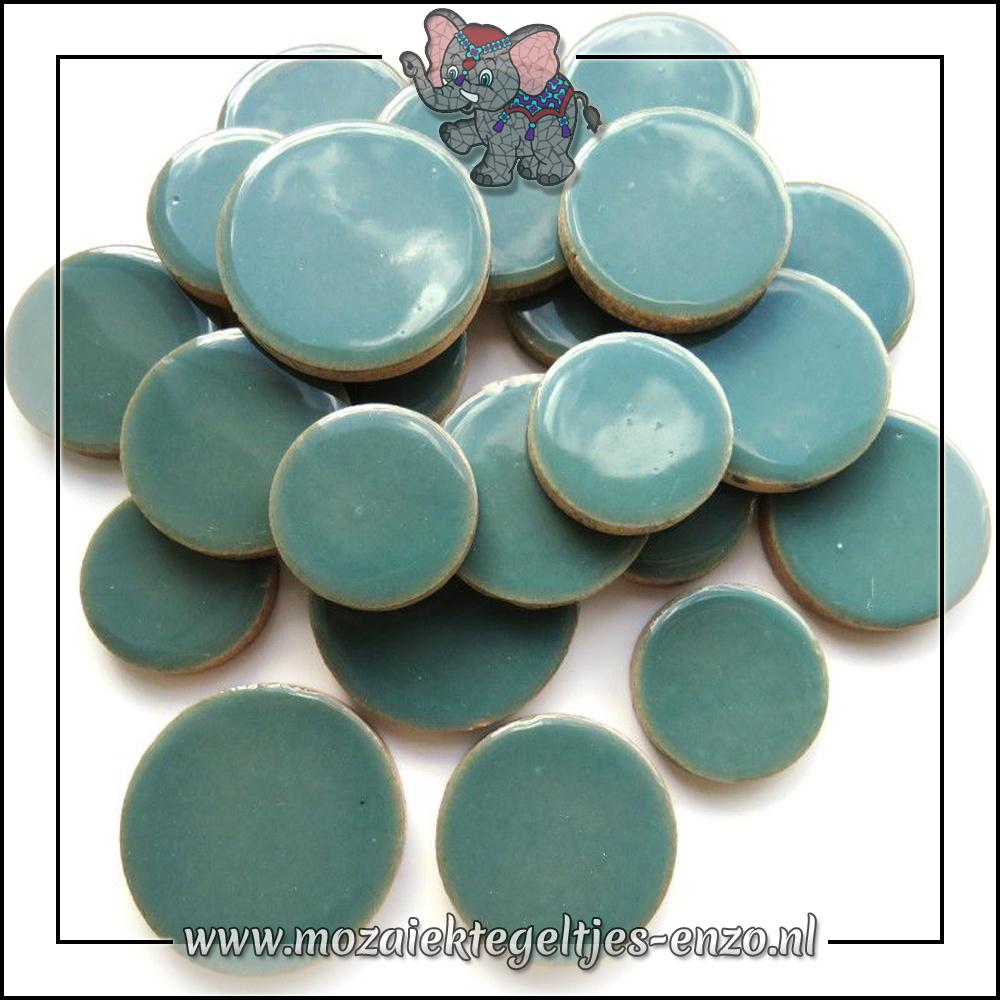 Keramiek Discs XL Normaal | 25-30-35 mm | Enkele Kleuren | 50 gram |Phthalo Green