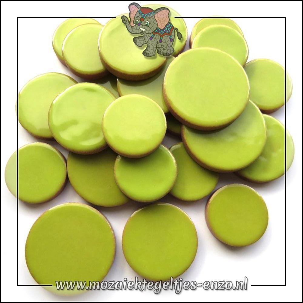 Keramiek Discs XL Normaal   25-30-35 mm   Enkele Kleuren   50 gram  Kiwi