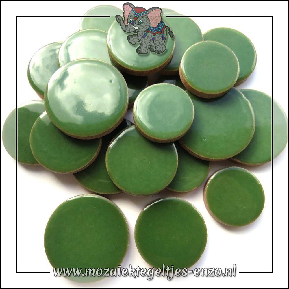 Keramiek Discs XL Normaal   25-30-35 mm   Enkele Kleuren   50 gram  Eucalyptus
