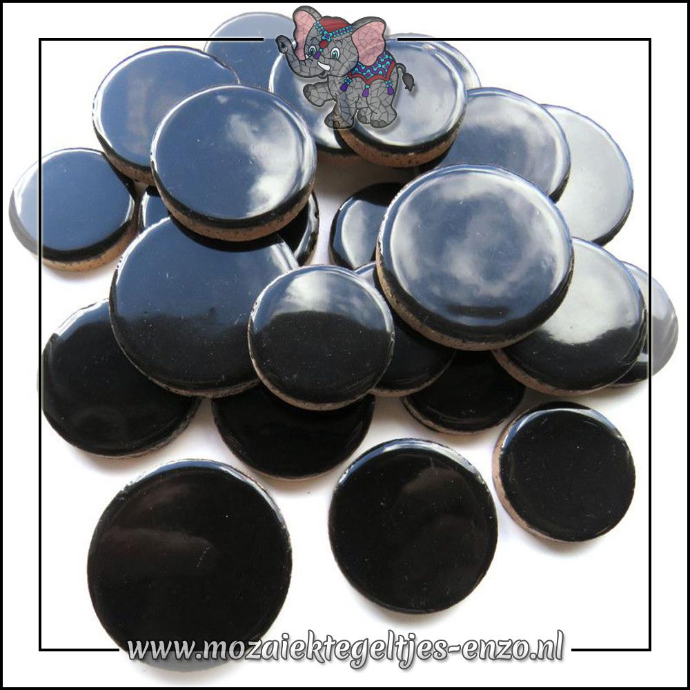Keramiek Discs XL Normaal | 25-30-35 mm | Enkele Kleuren | 50 gram |Black