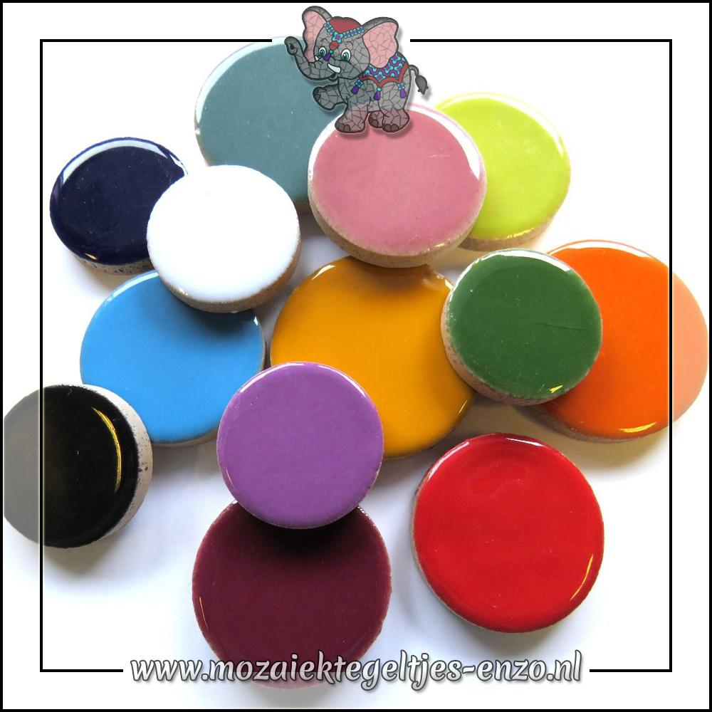 Keramiek Discs XL Normaal | 25-30-35 mm | Gemixte Kleuren | 50 gram |Mixed Colours