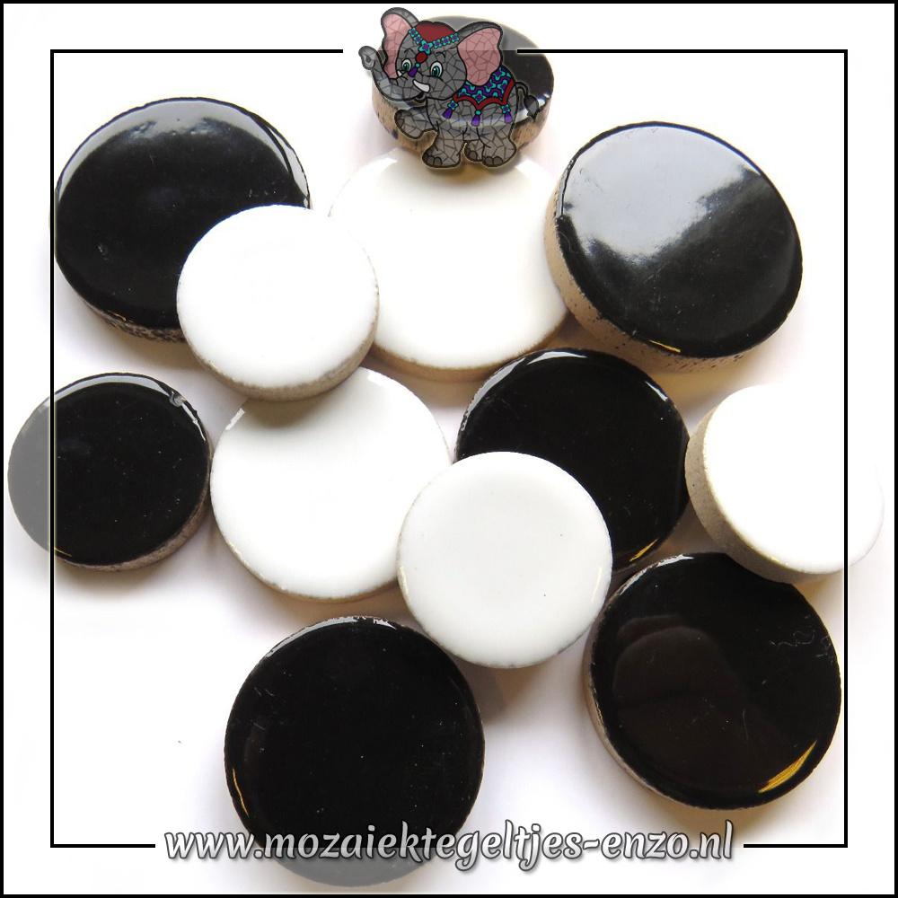Keramiek Discs XL Normaal   25-30-35 mm   Gemixte Kleuren   50 gram  Monochrome