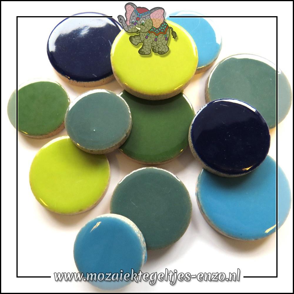 Keramiek Discs XL Normaal   25-30-35 mm   Gemixte Kleuren   50 gram  Water
