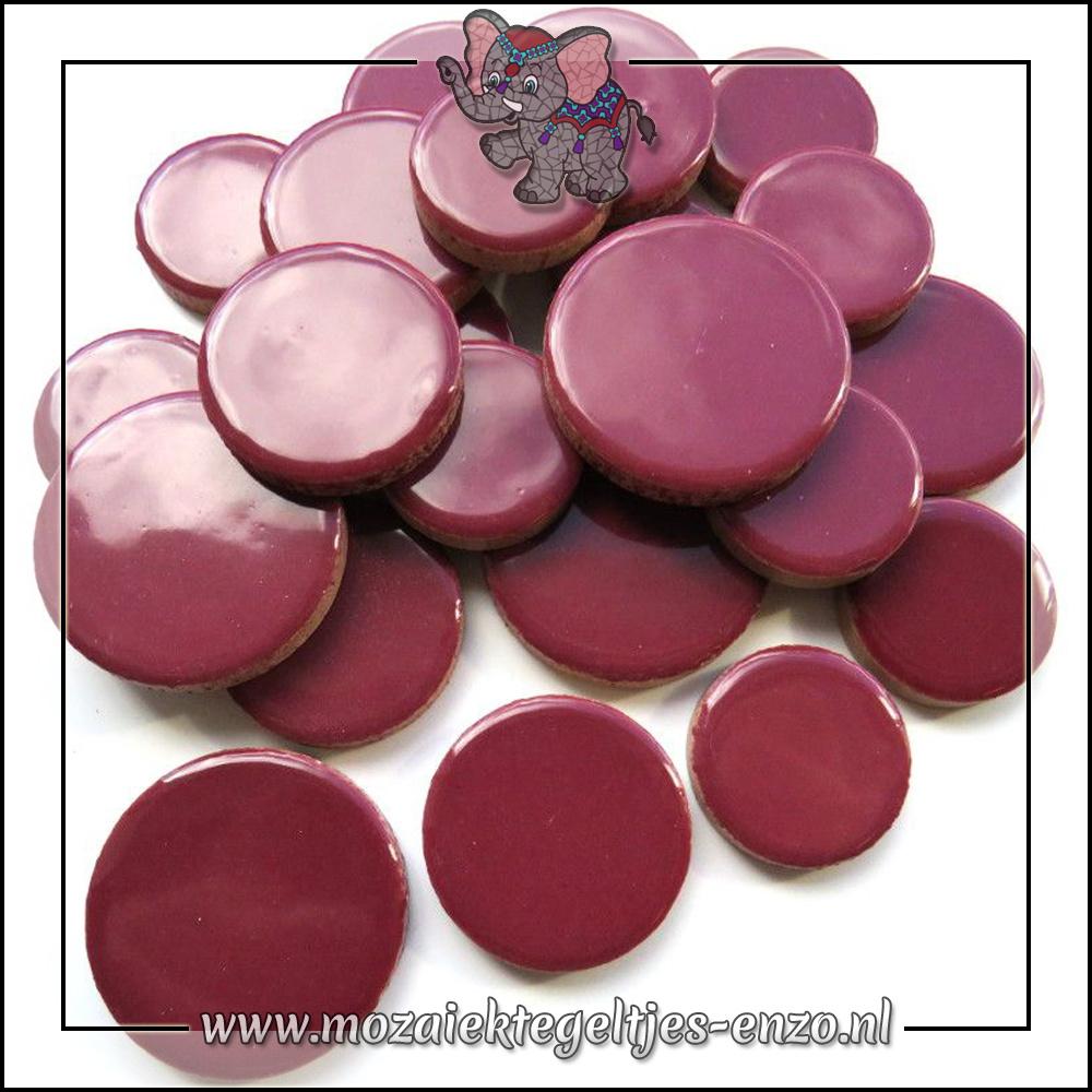 Keramiek Discs XL Normaal | 25-30-35 mm | Enkele Kleuren | 50 gram |Merlot