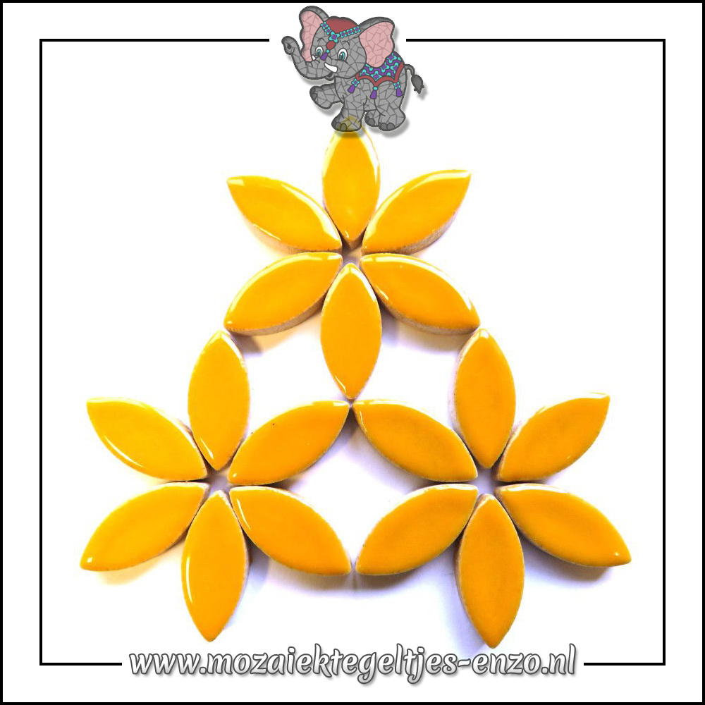 Keramiek Petals Normaal | 25mm | Enkele Kleuren | 50 gram |Curry