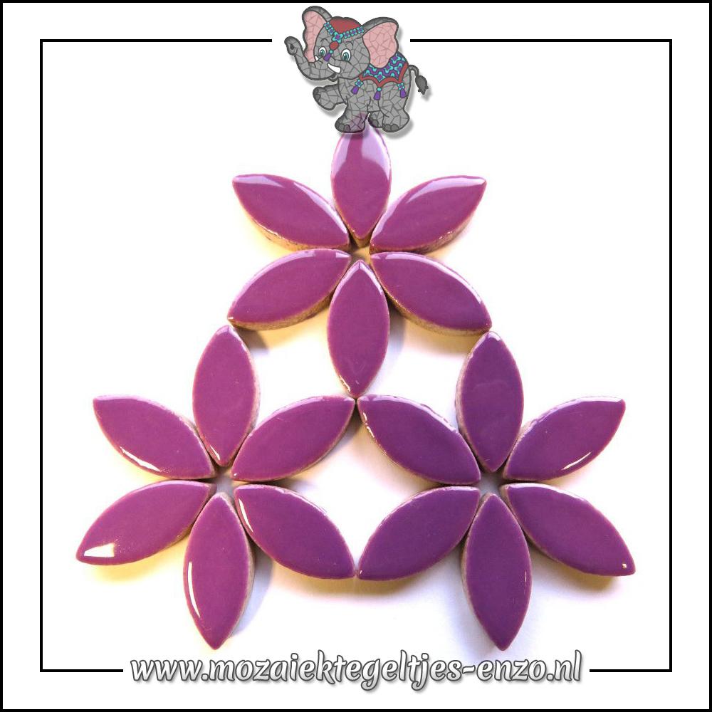 Keramiek Petals Normaal   25mm   Enkele Kleuren   50 gram  Pretty Purple