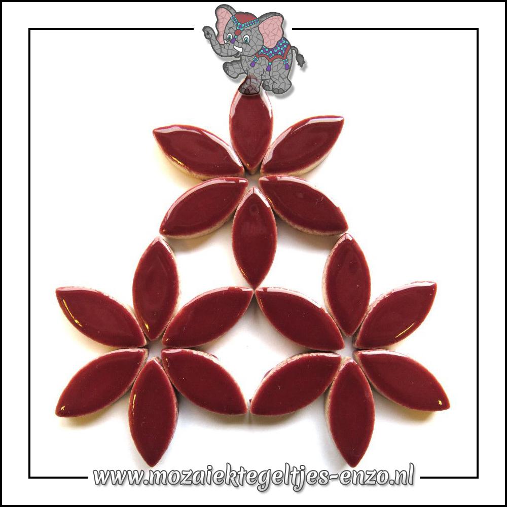 Keramiek Petals Normaal | 25mm | Enkele Kleuren | 50 gram |Merlot