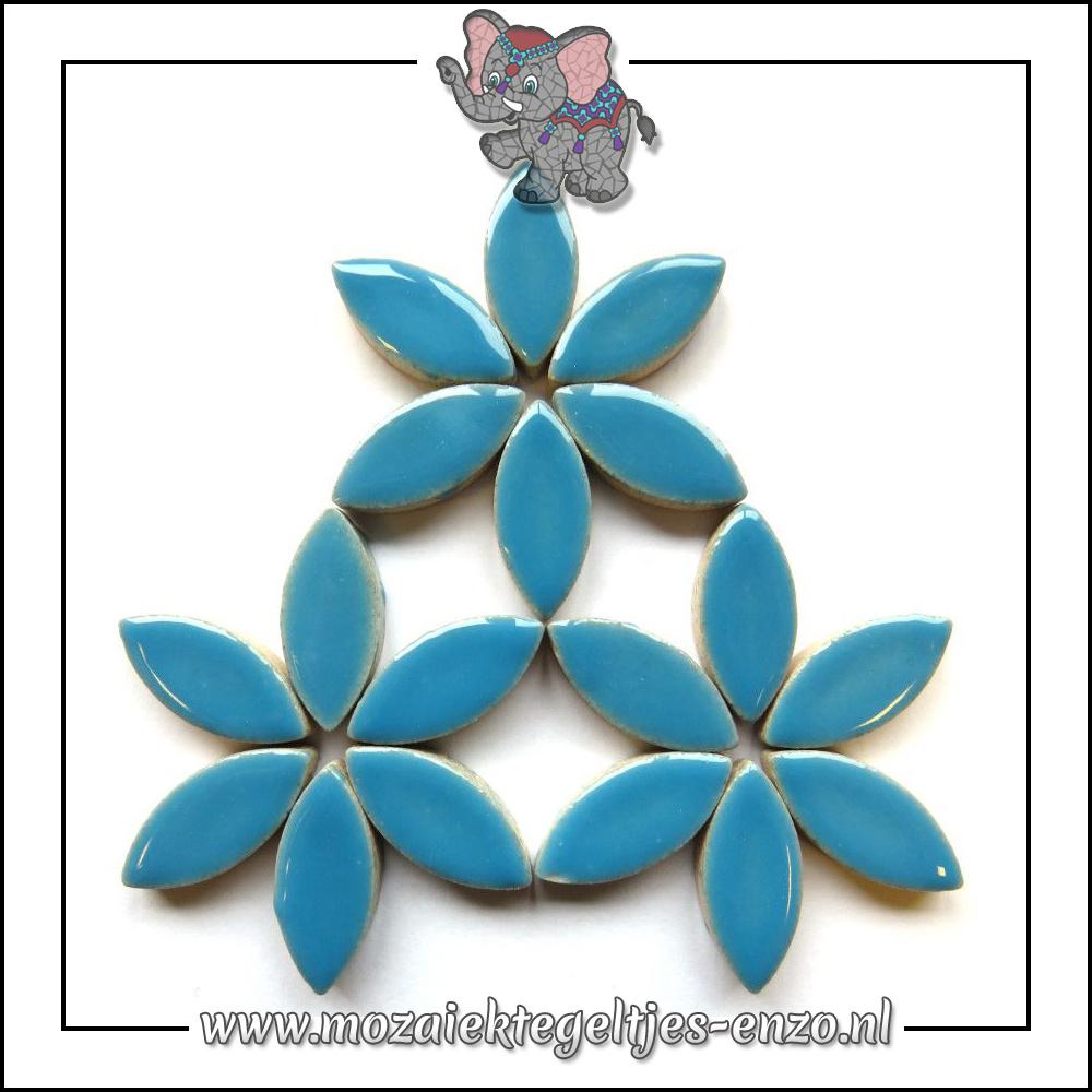 Keramiek Petals Normaal | 25mm | Enkele Kleuren | 50 gram |Thalo Blue