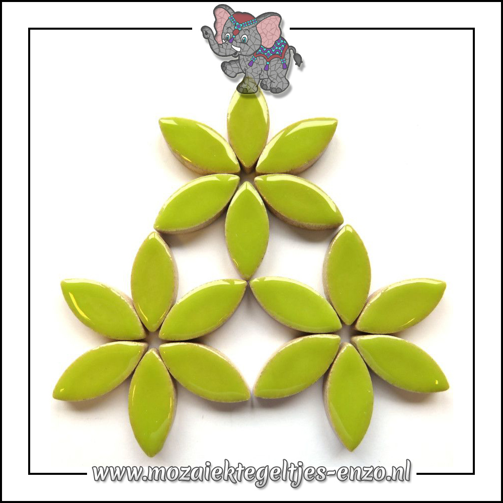 Keramiek Petals Normaal   25mm   Enkele Kleuren   50 gram  Kiwi