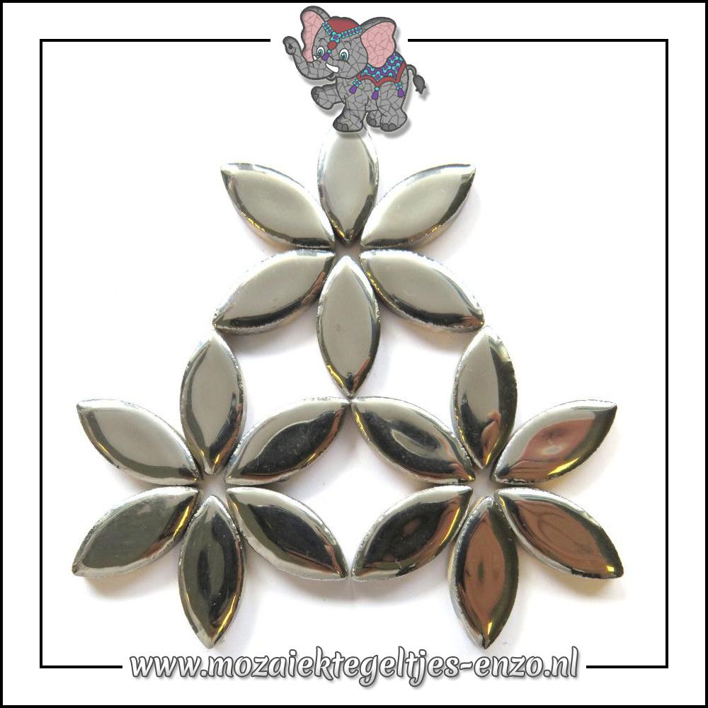 Keramiek Petals Normaal | 25mm | Enkele Kleuren | 50 gram |Silver