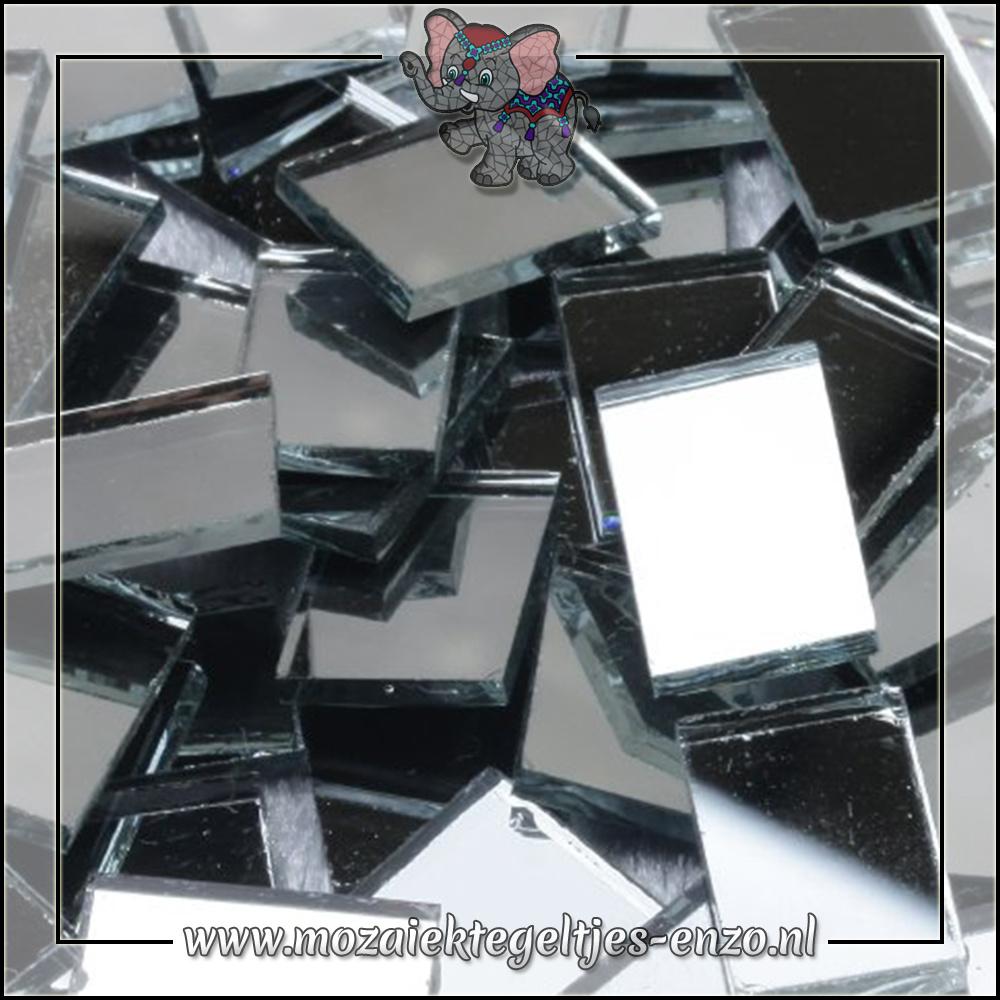 Spiegel mozaiek   1x1,5cm   Enkele Kleuren   50 gram  Rechthoek