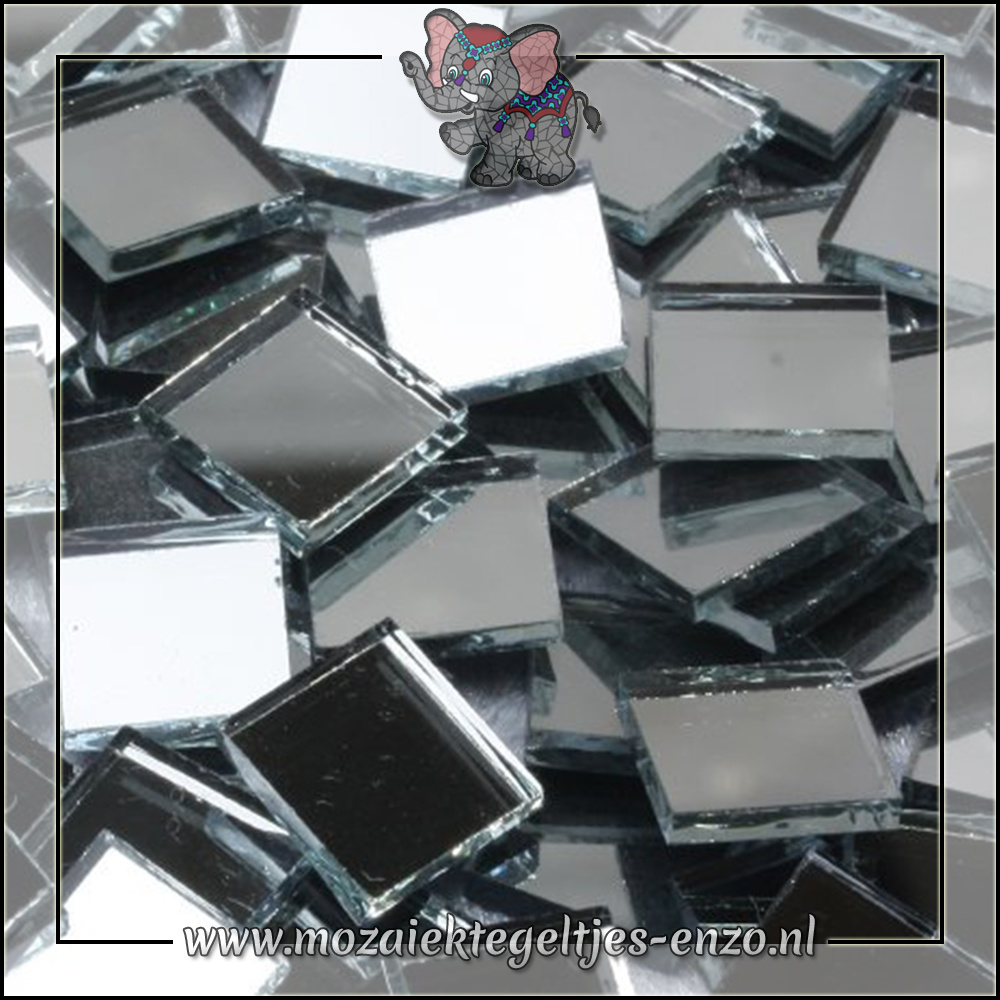 Spiegel mozaiek   1cm   Enkele Kleuren   50 gram  Vierkant klein
