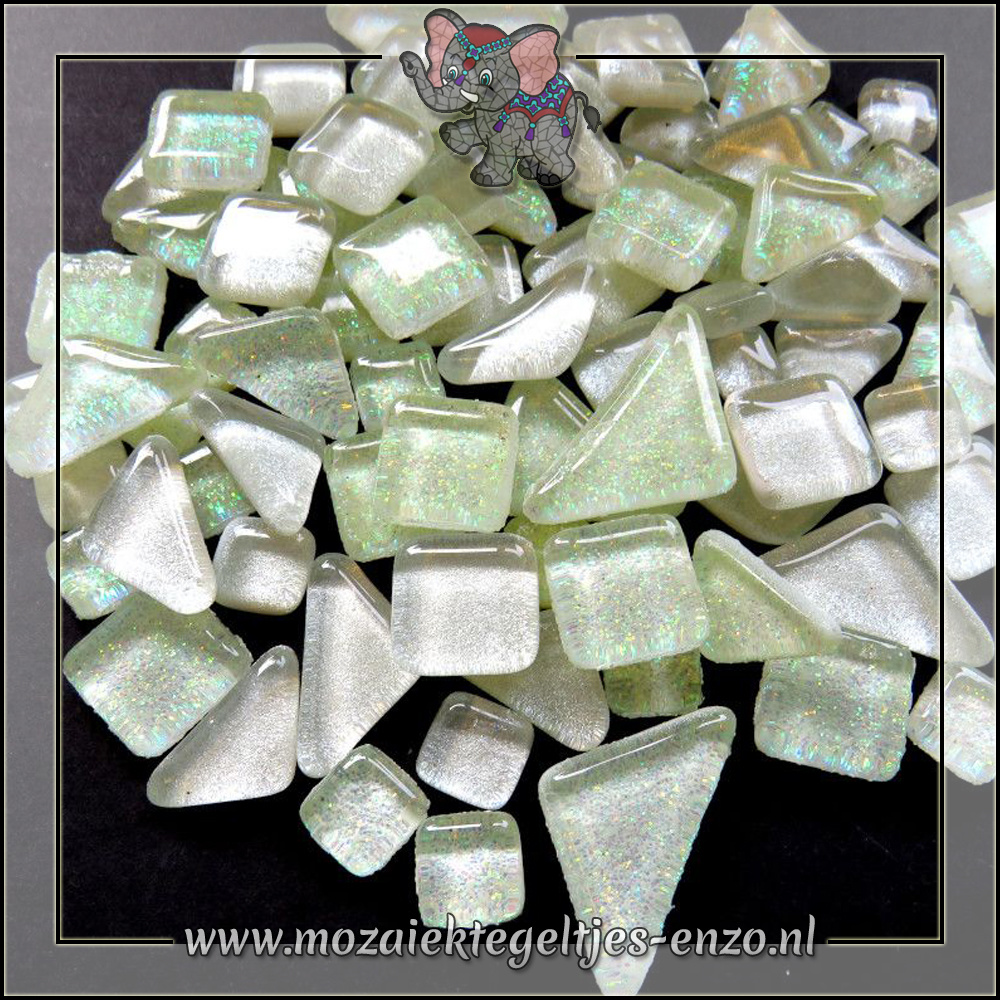 Soft Glas Puzzelstukjes Glitter | Gemixte Kleuren | 50 gram |Snow Drops