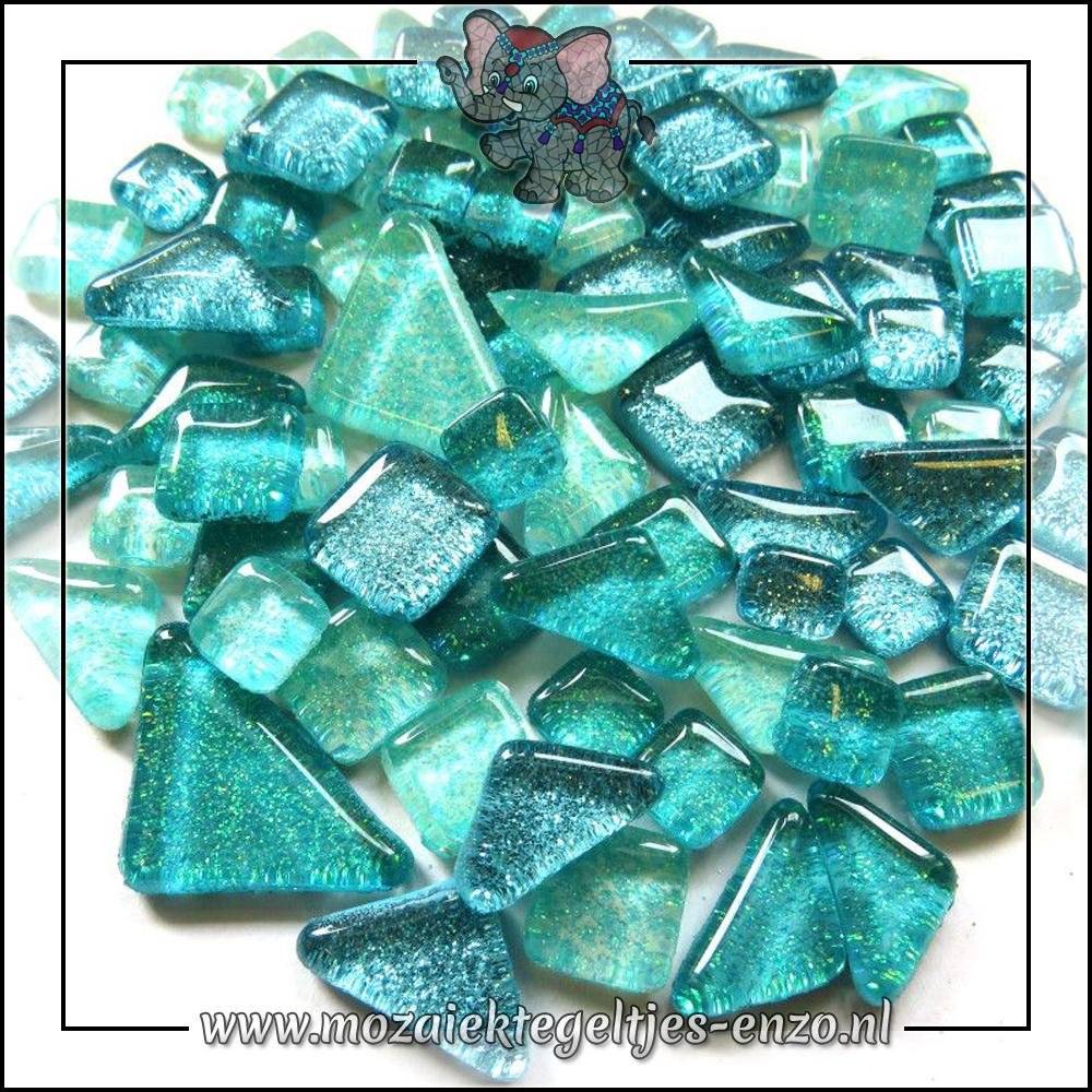 Soft Glas Puzzelstukjes Glitter | Gemixte Kleuren | 50 gram |Aqua Shores