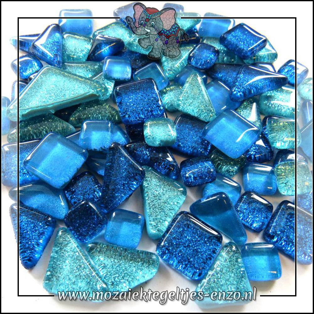 Soft Glas Puzzelstukjes Glitter | Gemixte Kleuren | 50 gram |Sea Sparkle