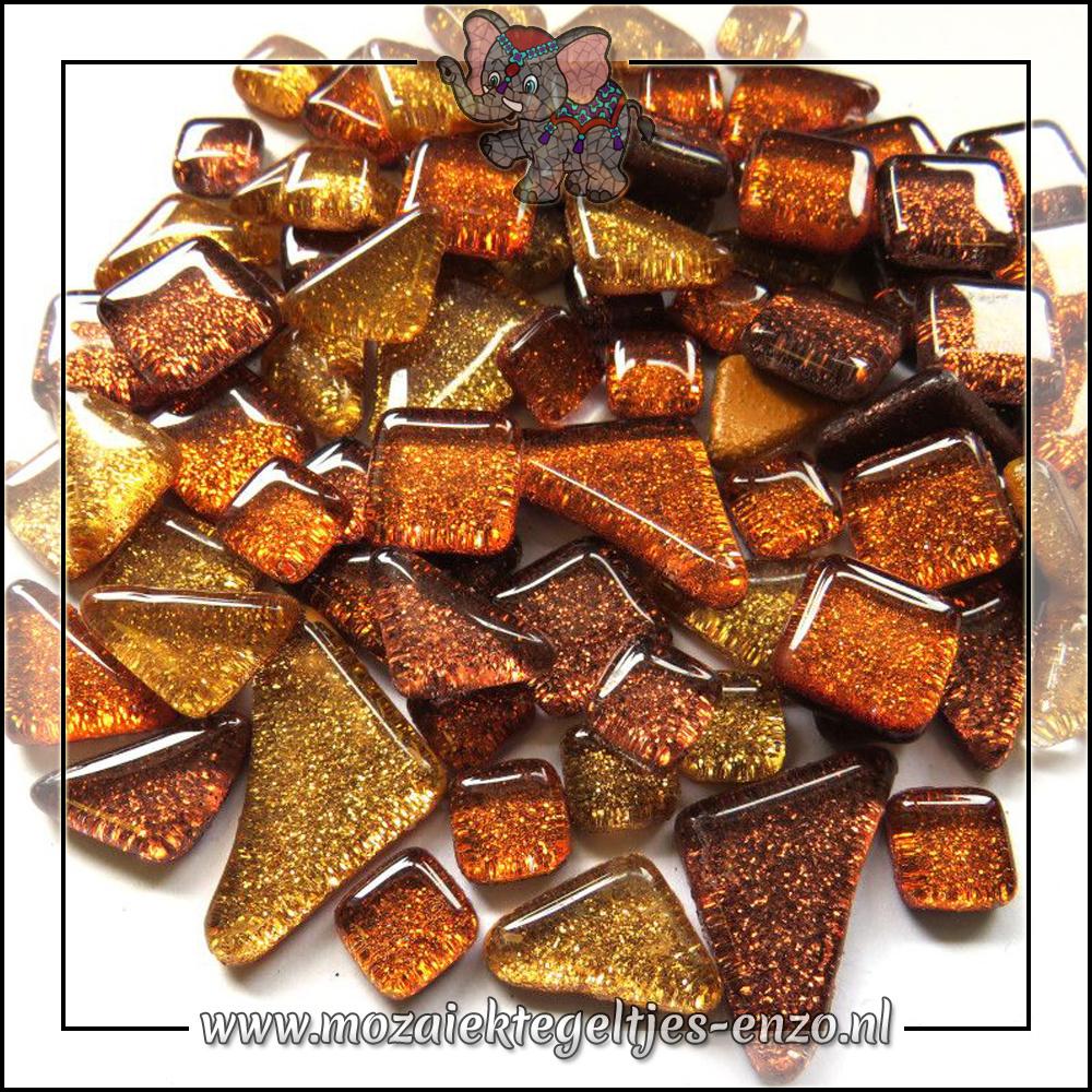 Soft Glas Puzzelstukjes Glitter | Gemixte Kleuren | 50 gram |Autumn Leaves