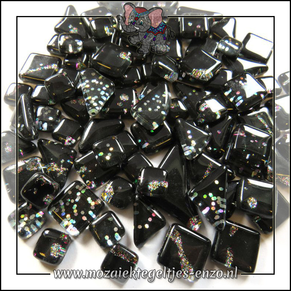 Soft Glas Puzzelstukjes Glitter | Gemixte Kleuren | 50 gram |Night Sky