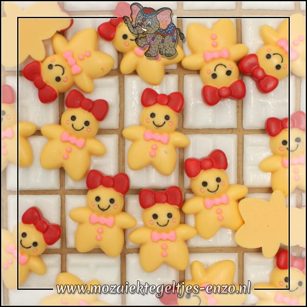 Cabochon plaksteen   Platte onderkant   1 stuks   Gingerbread meisje