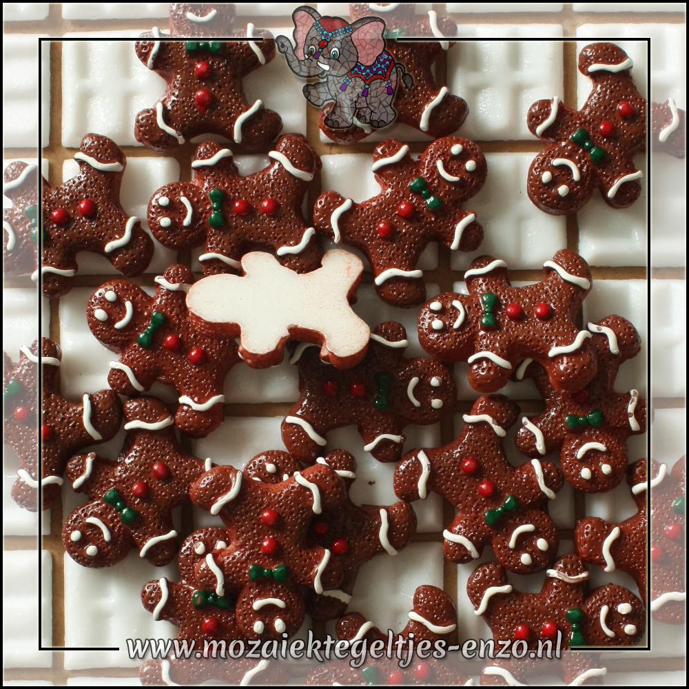 Cabochon plaksteen | Platte onderkant | 1 stuks | Gingerbread