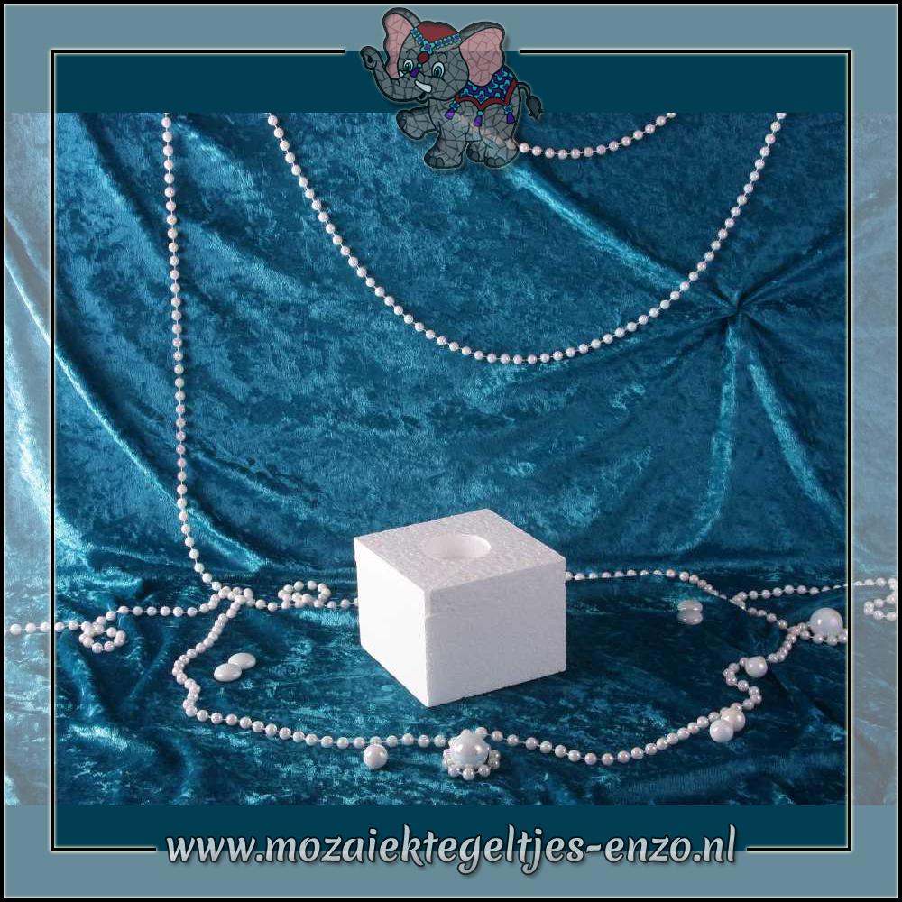 Knutselmateriaal Styropor | Vierkant | Piepschuim Vormen | Waxinehouder