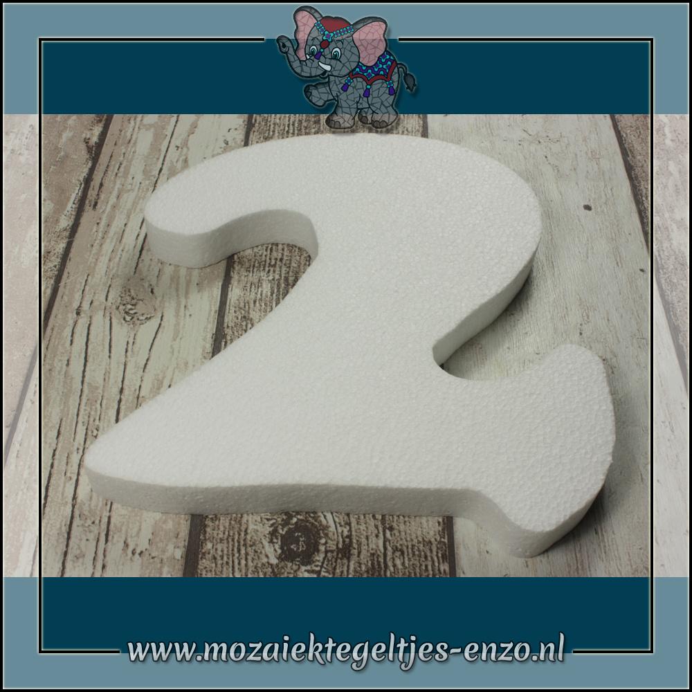 Knutselmateriaal Styropor | Groot | Piepschuim vormen | Cijfer - 2